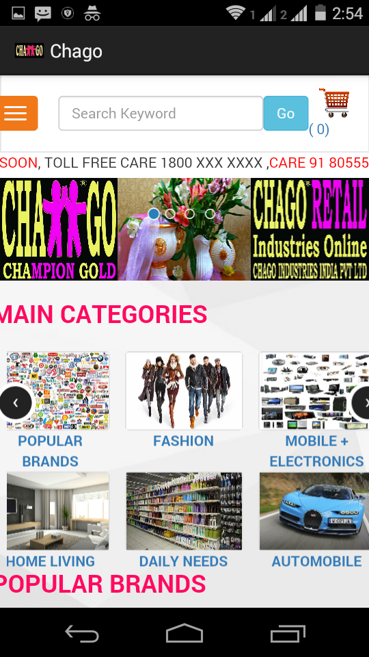 Chago Retail Mobile App